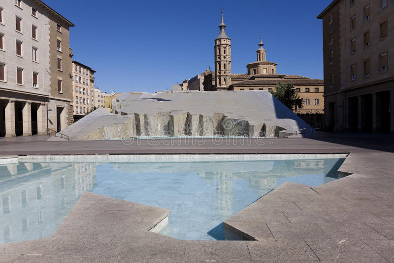 Download Square of the Pilar stock photo. Image of square, sunny - 25410000