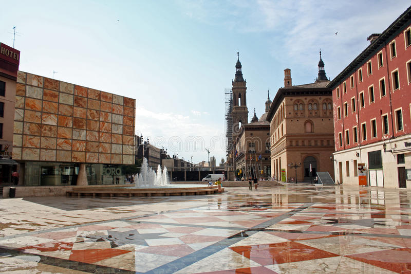 Square of Pilar stock photography