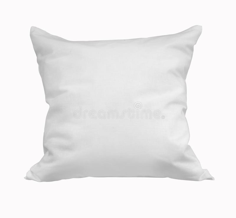 Square pillow on a white background stock images