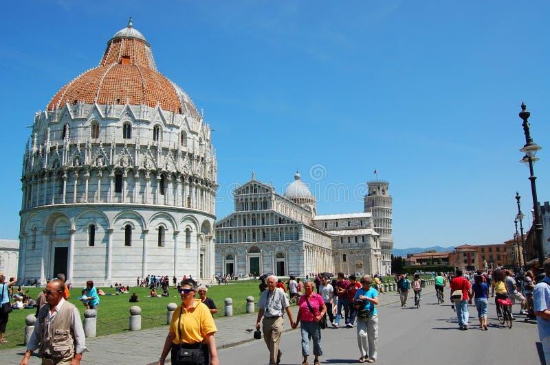 Square of Pisa stock image