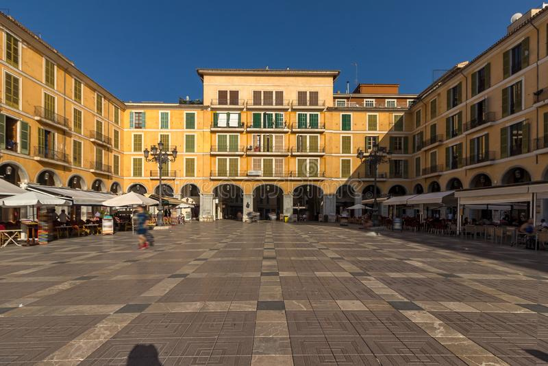Square Placa Major - Mallorca - Spanje royalty-vrije stock foto