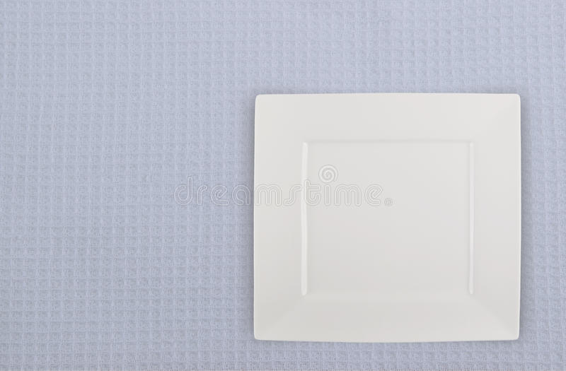 Square Plate Royalty Free Stock Photography