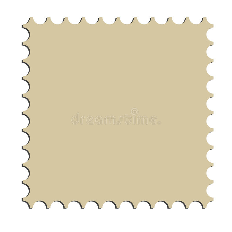 Square postage stamp border (vector) vector illustration