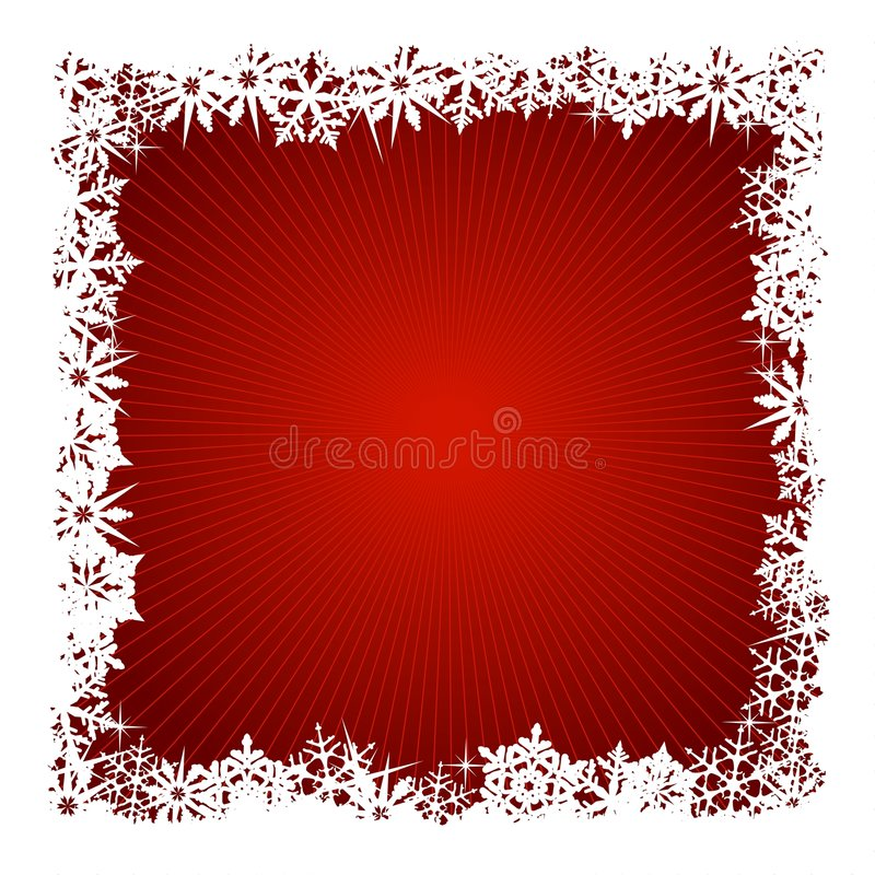Download Square Red Snowflake Background Stock Vector - Image: 6885267