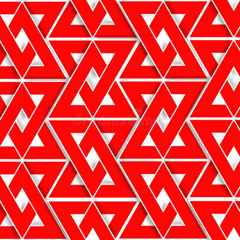 Square red triangle 2d pattern background, texture,. Square red triangle pattern background texture vector illustration