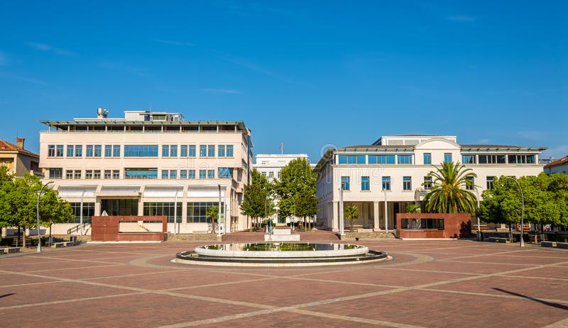 Square of the Republic in Podgorica stock images
