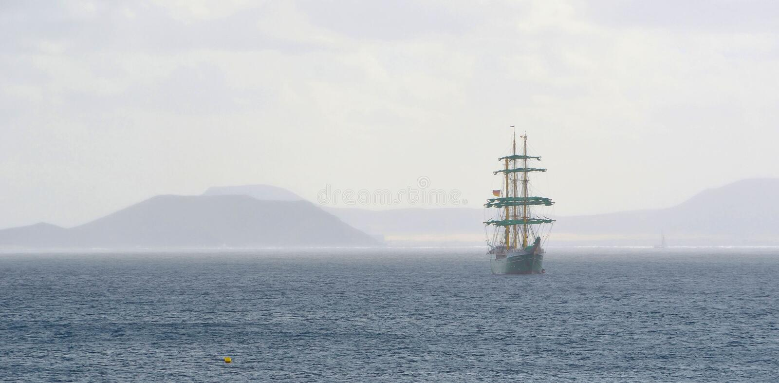 Square Rigged Tall Ship royalty free stock image