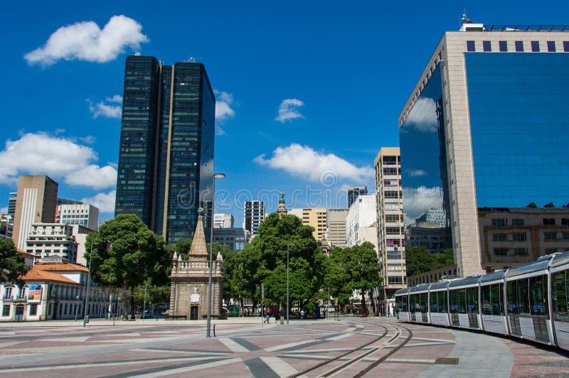 Square in Rio de Janeiro City. November 15 Square in Downtown Rio de Janeiro, Brazil royalty free stock images