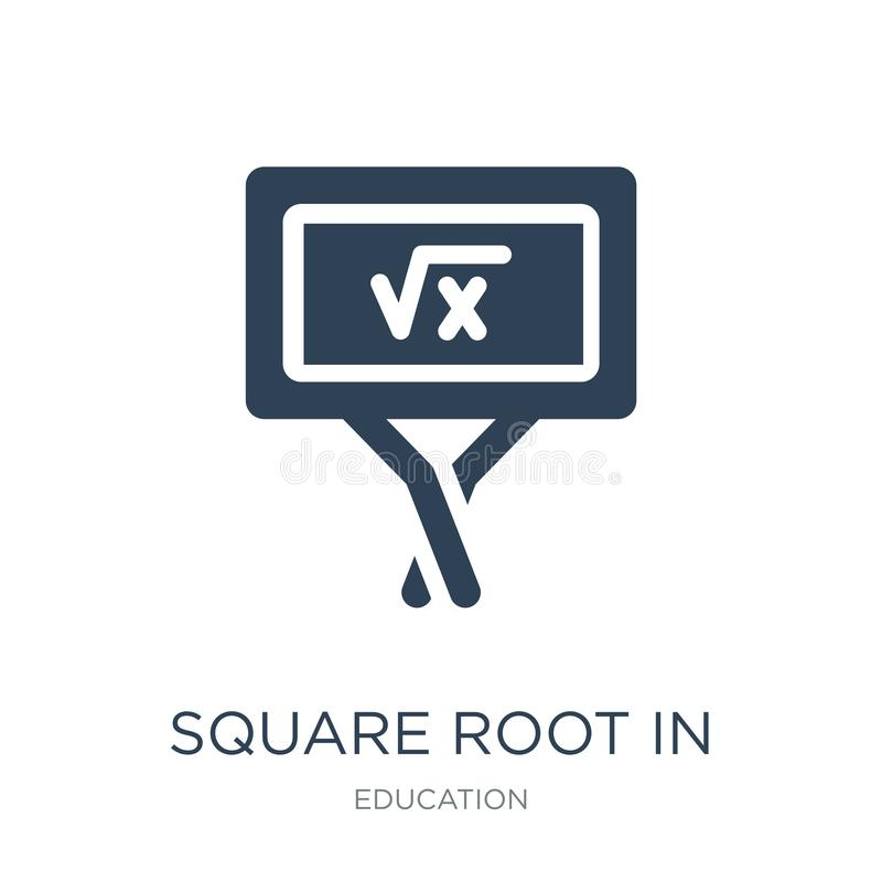square root in class icon in trendy design style. square root in class icon isolated on white background. square root in class royalty free illustration