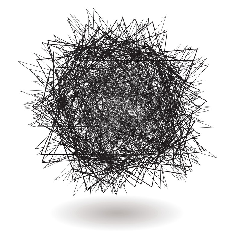 Square scribble royalty free illustration
