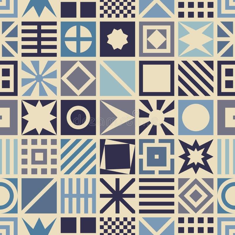 Square seamless pattern. royalty free illustration