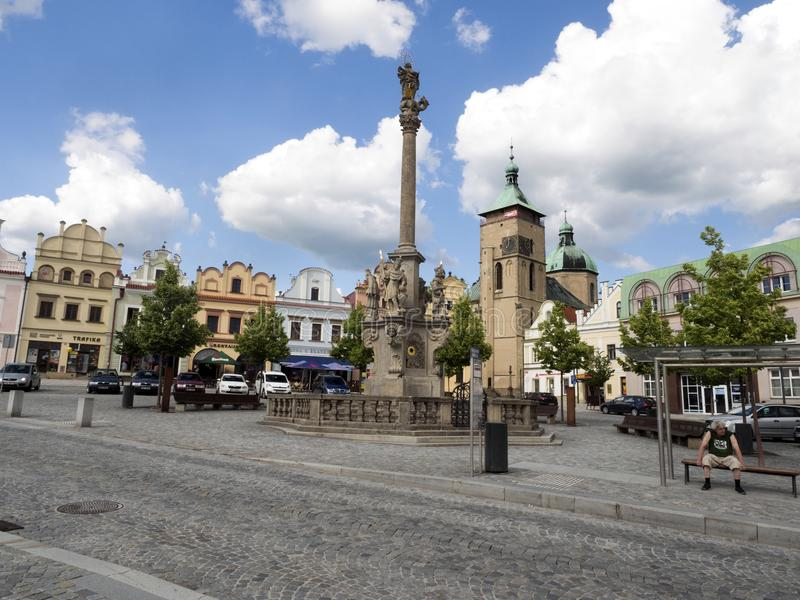 Square from the second half of the sixteenth century, Havlíčkův. Square from the second half of the sixteenth century, June Havlíčkův Brod stock photography