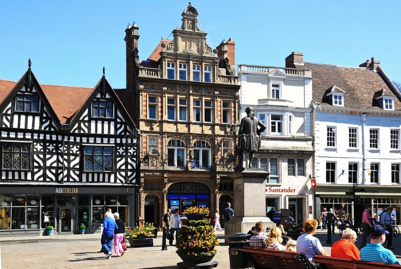 The Square, Shrewsbury. royalty free stock photos