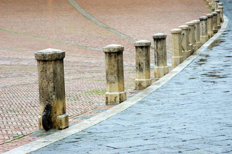 Square Siena Tuscany Italy stock images