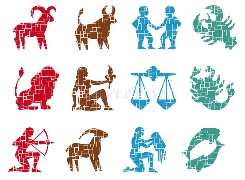 Square Sign Zodiac Stock Photo