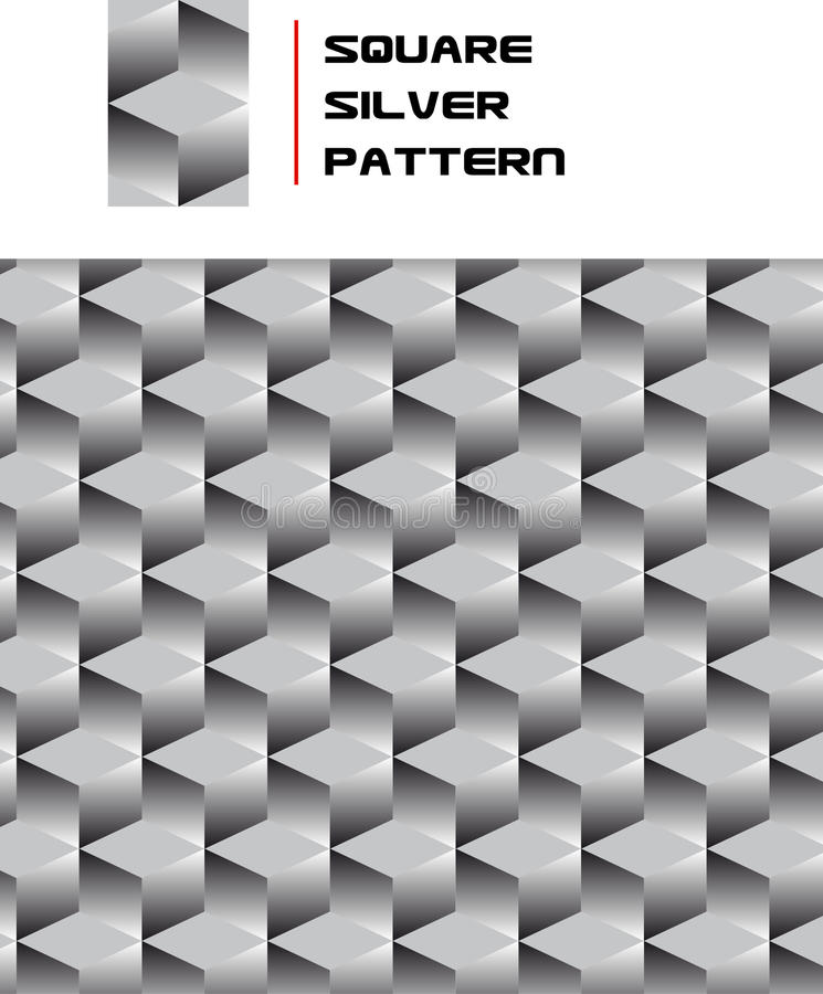 Download Square Silver Pattern Stock Image - Image: 15703311