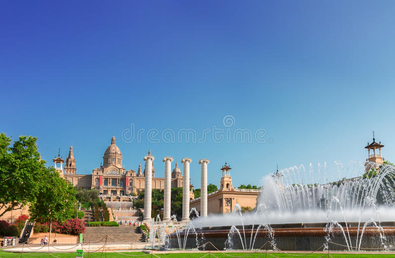 Square of Spain, Barcelona stock photography