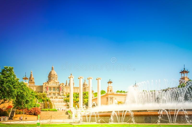 Square of Spain, Barcelona royalty free stock image