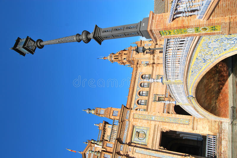 The Square Of Spain In Seville Royalty Free Stock Images