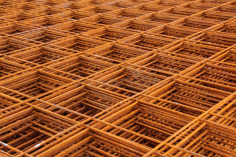 Square steel grid stock photo
