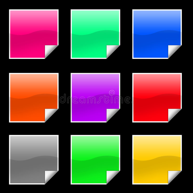 Free Square Stickers Stock Image - 4039271