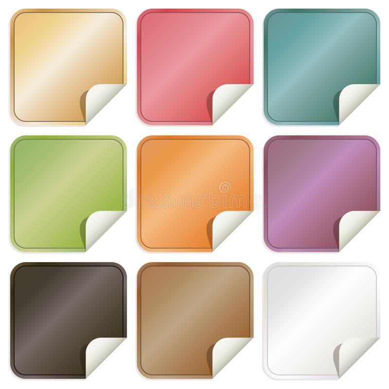 Square stickers stock illustration