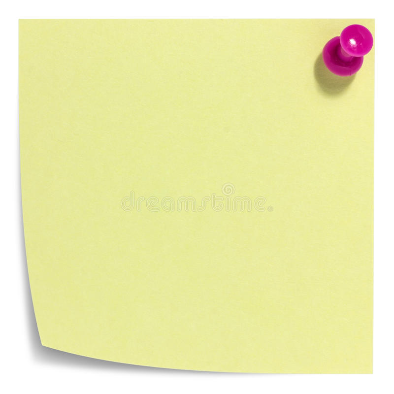 Download Square Sticky Note With Pink Pin, And Shadow Royalty Free Stock Photo - Image: 35238065