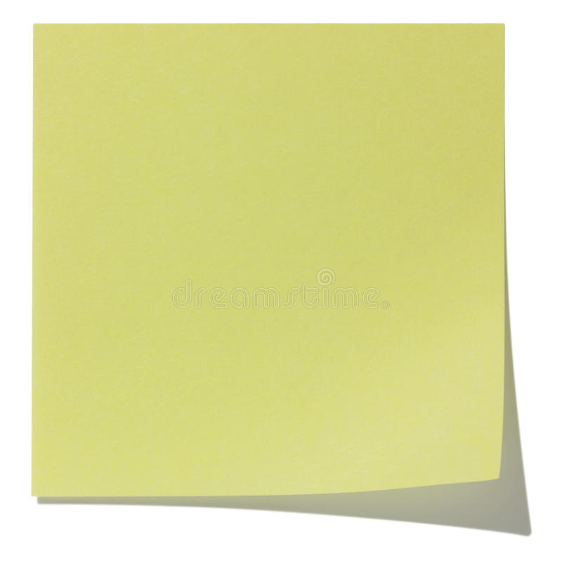 Square Sticky Note, And Shadow Royalty Free Stock Image