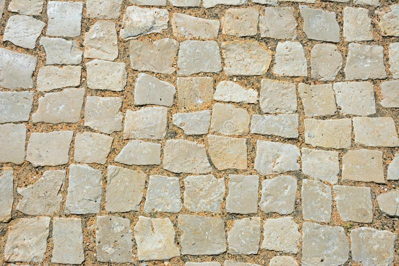 Pavement cobbles background. stock photography
