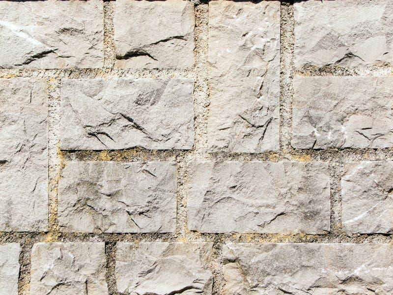 Square stone wall royalty free stock photo