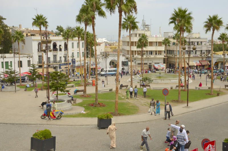 Square in Tangier royalty free stock photos