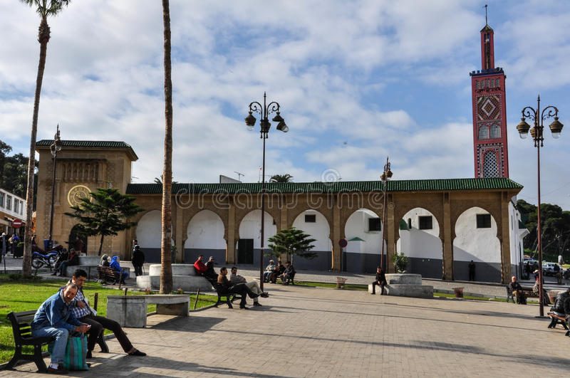 Square in Tangier City, Morocco royalty free stock photography