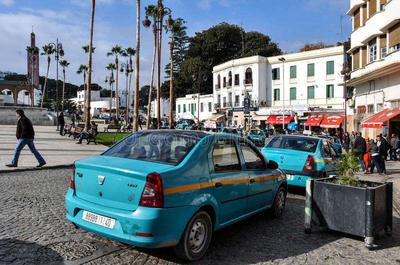 Square in Tangier City, Morocco royalty free stock image