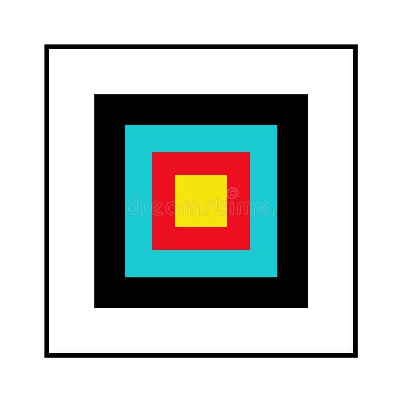 Square target vector illustration