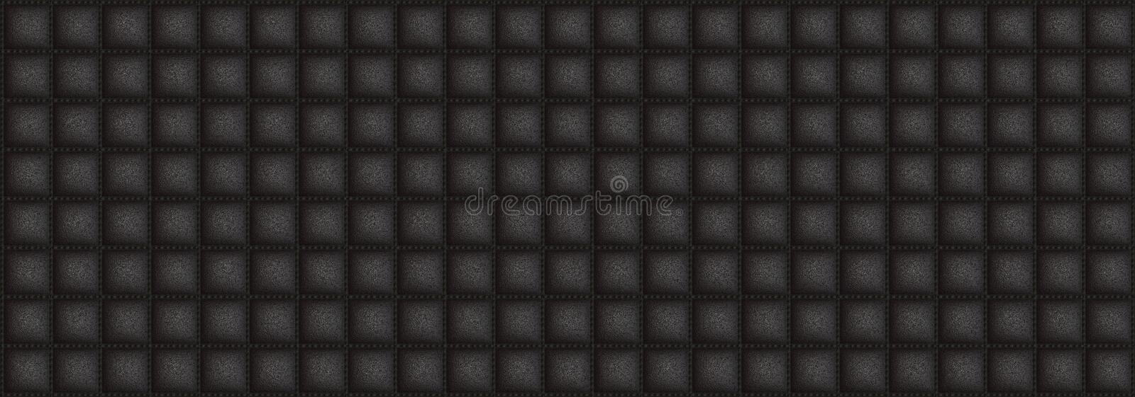 Square texture leather with black dof color stock image