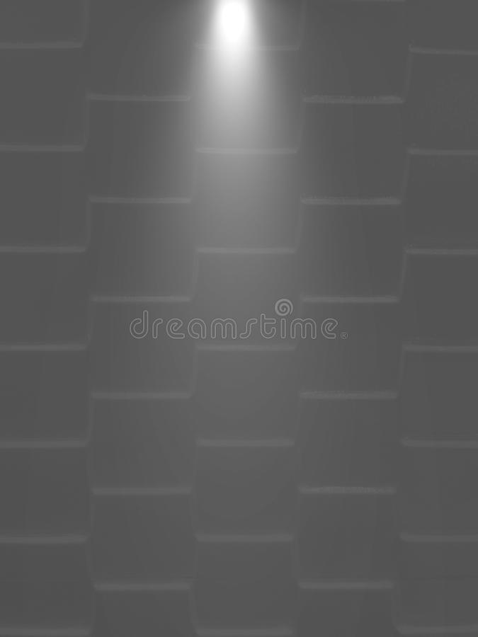 Square textures on the wall with lighting. Background design stock photo