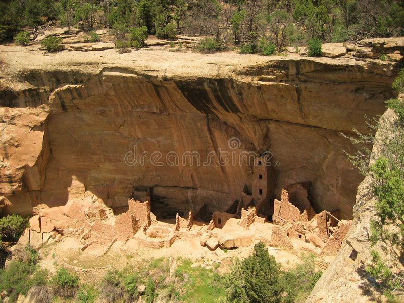 Square Tower House. Is the cliff dwelling in Mesa Verde NP royalty free stock photo