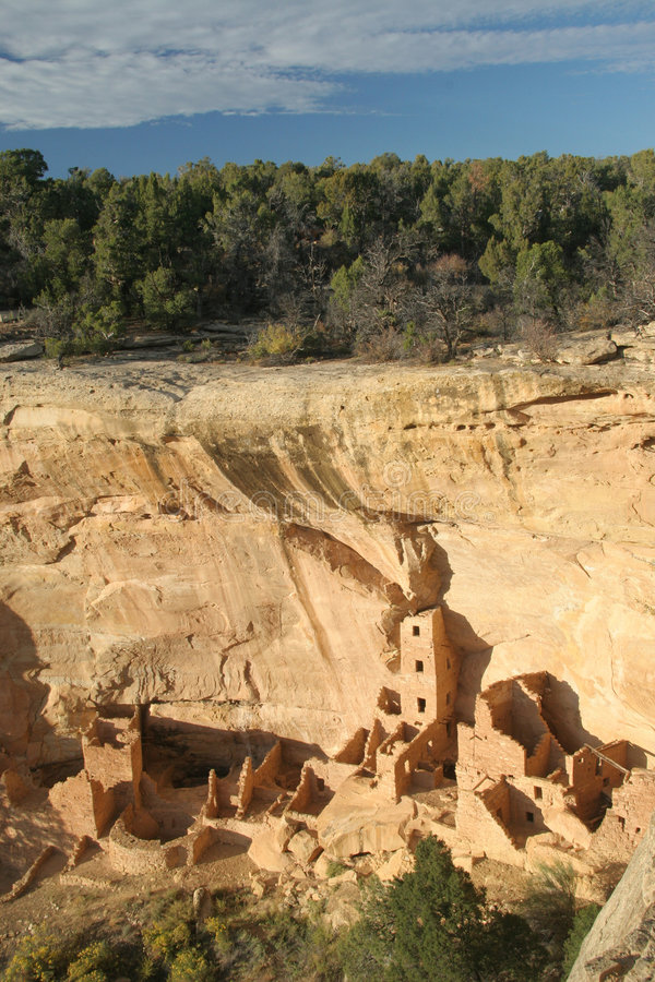 Square Tower House, Mesa Verde. National Park, Colorado royalty free stock image