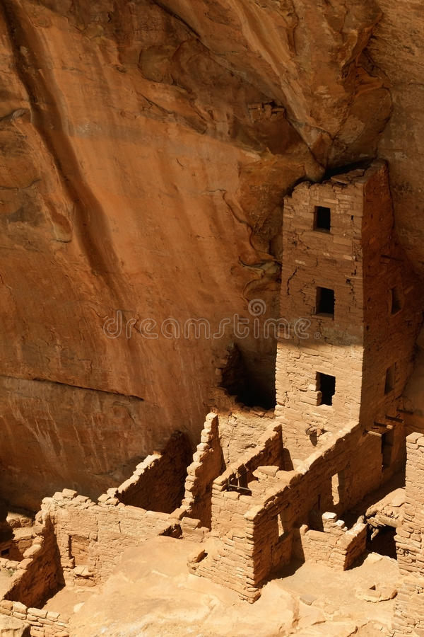 Square Tower House, Mesa Verde National Park. CO royalty free stock photo
