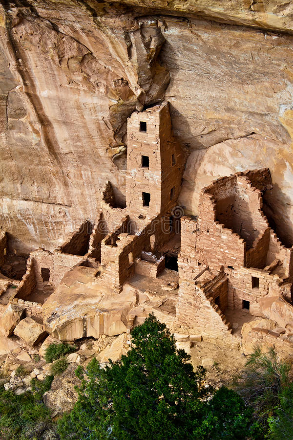Square Tower House in Mesa Verde National Park, Co. Square Tower House ruin, Mesa Verde National Park, Colorado, USA royalty free stock photo