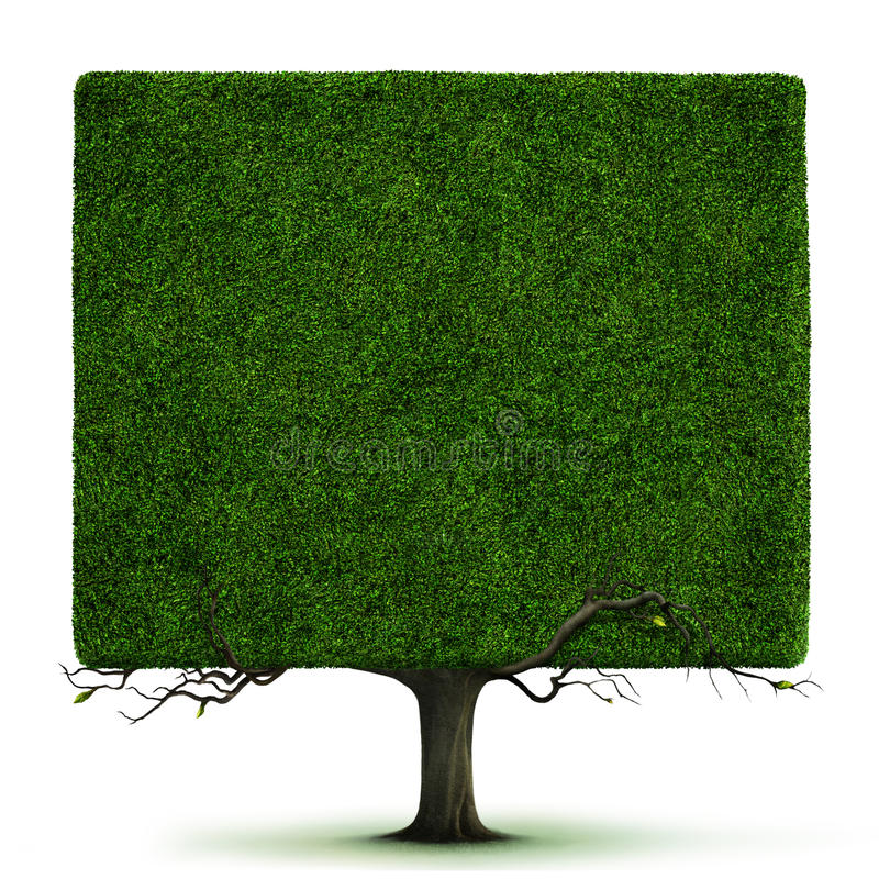 Square tree stock illustration