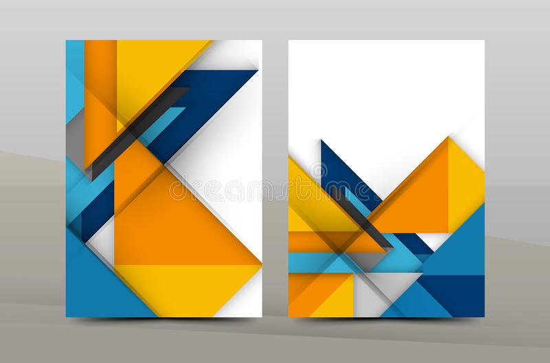 Square and triangle design annual report template royalty free illustration