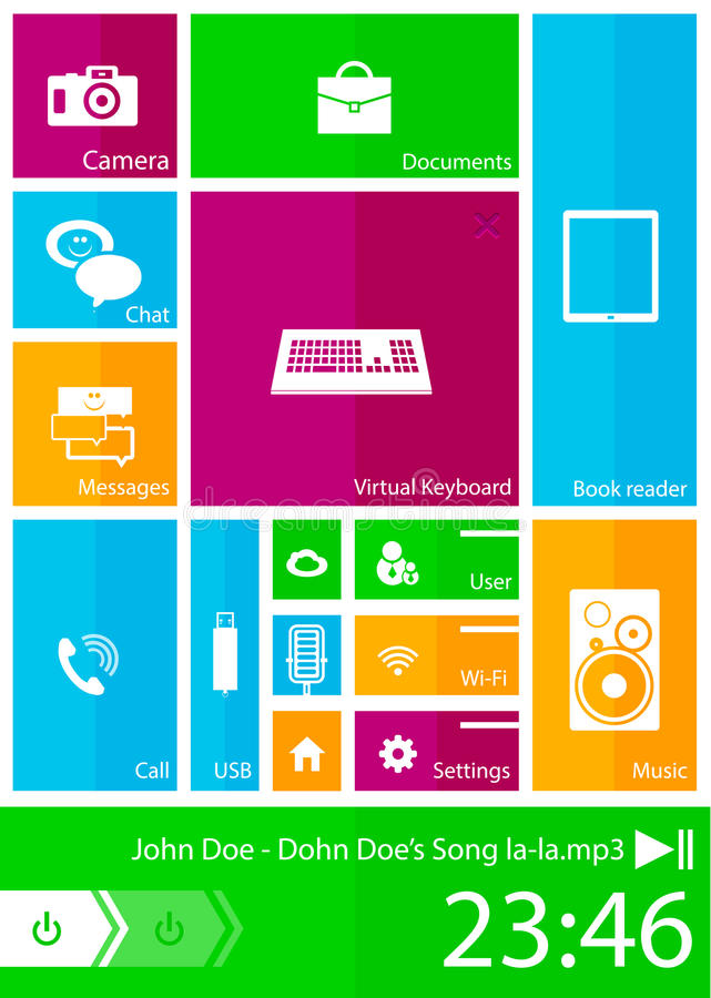 Download Square user interface stock vector. Image of elements - 26649560