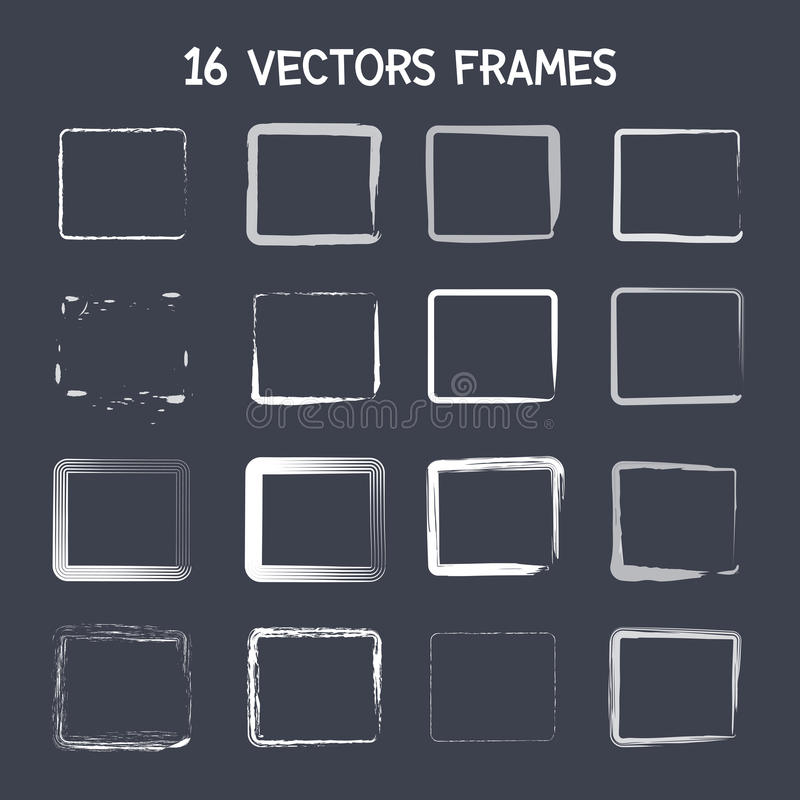 16 square vector frame stock vector. Illustration of retro - 43553889