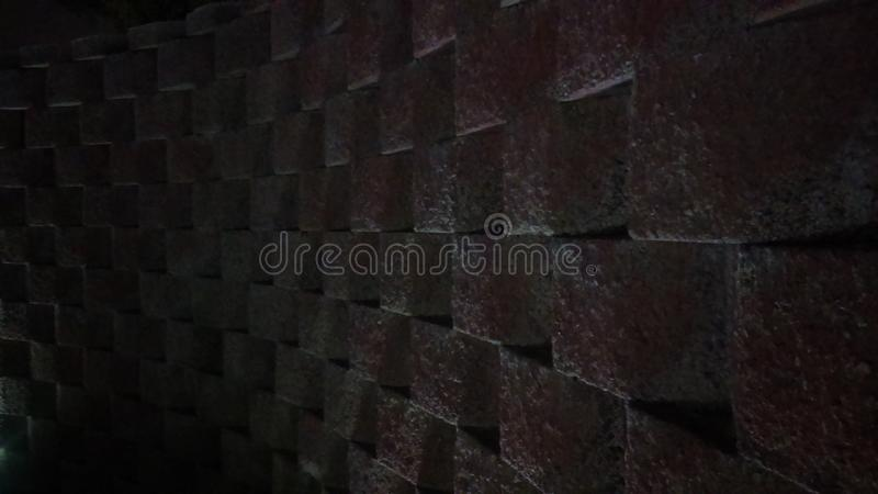 Square Wall with Light royalty free stock photos