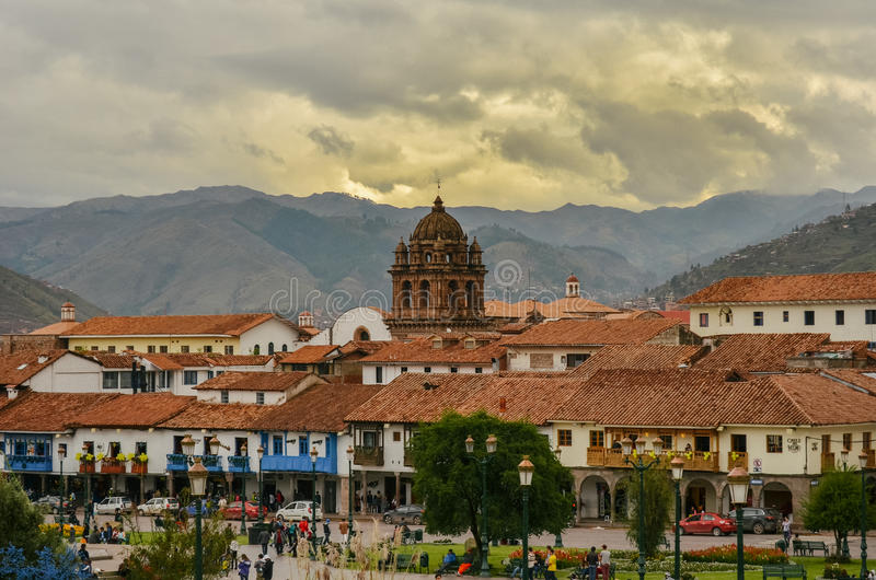 Square of the warrior, Cusco stock photography