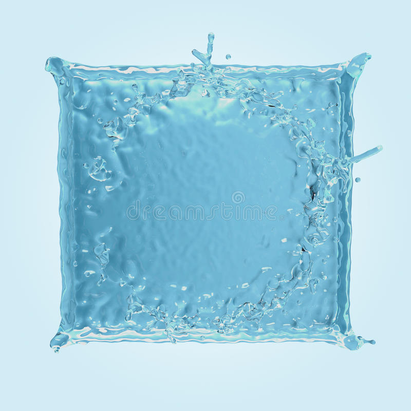 Square water splash vector illustration