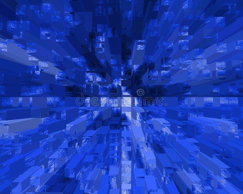 Square waves broadcast. stock illustration