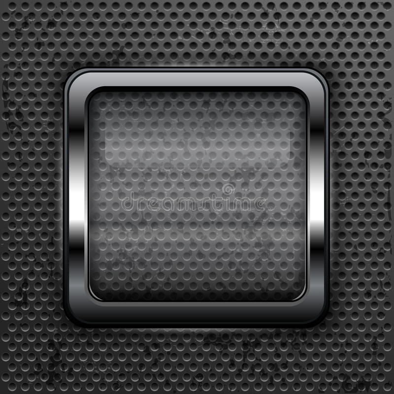 Download Square web button stock vector. Illustration of glowing - 25596829