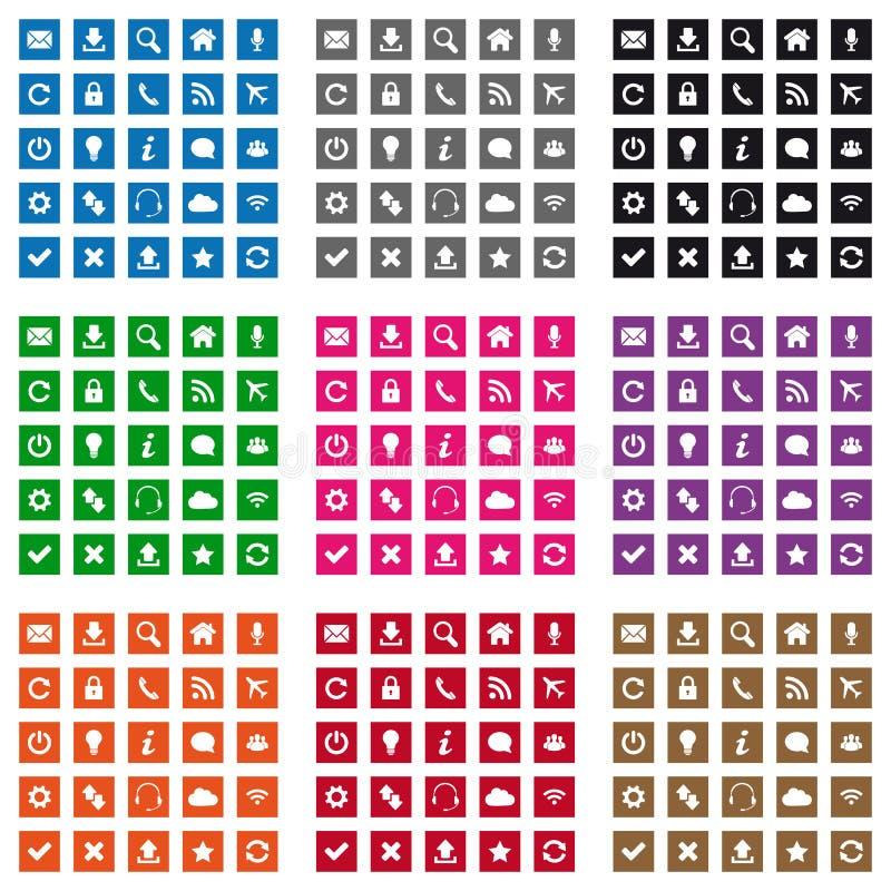 Square Web Icons Stock Photos